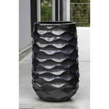 tall vase lighting garden. Interesting Vase Kinsey Garden Decor Rumba Tall Ceramic Planters Ice Black With Vase Lighting