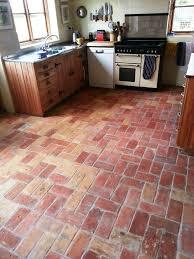 Brick Flooring For Kitchen Unique Brick Kitchen Floor Restored In Wrestlingworth