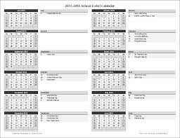 Printable School Year Calendars School Calendar Template 2017 2018 School Year Calendar