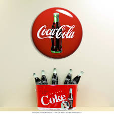 Coca-Cola Contour Bottle Metal Button Sign