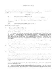 Exclusive Partnership Agreement Template Partnership Agreement