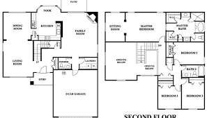 Bedroom House Floor Plans 2 Story 4 Bedroom House Floor Plan For4 Bedroom Townhouse Floor Plans