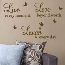 live love laugh art wall quote stickers