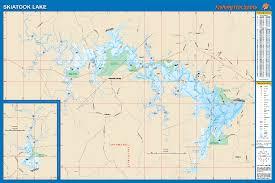 Skiatook Lake Fishing Map