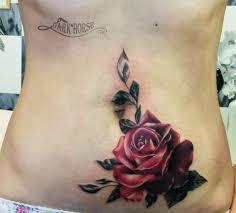 татуировка на животе у девушки роза фото рисунки эскизы