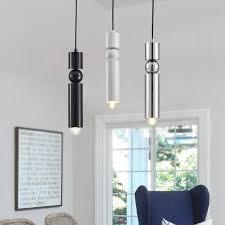 modern simple personality single head black iron chandelier