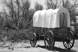 black and white covered wagon. west photograph - black and white old covered wagon by richard jenkins p