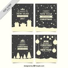 free beautiful christmas cards pack of beautiful christmas cards in retro style vector free download
