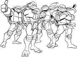 Stunning Design Ninja Turtle Coloring Pages Free Teenage Mutant