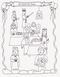 All Saints Day Catholic Coloring Pages L