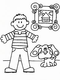 Small Picture Blues Clues Coloring Pages pertaining to Inspire to color page