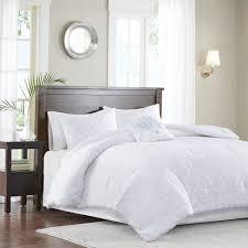 madison park quebec cal king size bed comforter set white damask 5 pieces bedding sets ultra soft microfiber bedroom comforters