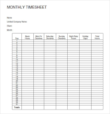 Timesheets Sample 30 Free Monthly Timesheet Template Andaluzseattle Template