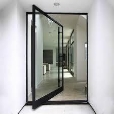 spd06 pivot door black steel framed glass in rancho santa fe ca