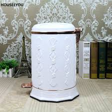 elegant trash can. Delighful Elegant Elegant Trash Can White Stainless Steel Simple Style Bin Foot Pedal  Pressing Dustbin Home Quite Waste In Elegant Trash Can P