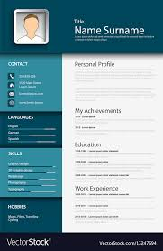 Professional Blue Resume Cv Template