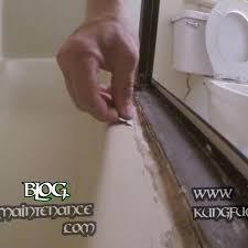 how to remove really bad tub shower door enclosure caulking repair how to remove bathtub caulk