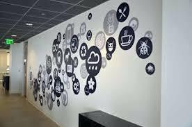 office wall decor. Office Wall Decor Social Media Vector Decal Professional Work Ideas