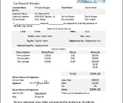 Deposit Receipt Sample Ms Excel Car Cash Deposit Receipt Template Receipt Templates