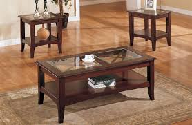 coffee tables and end sets piece glass dark brown finish living room table set furniture back to round tail wood side black square tv stand