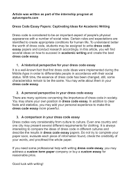 dress code essay papers captivating ideas for academic  dress code essay papers captivating ideas for academic writing