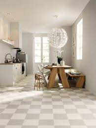 Tiles For Kitchen Floors Kitchen Awesome White Themed Open Kitchen And Dining Room With