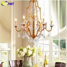 lampe vintage suspension Élégant fumat k9 crystal chandeliers vintage american suspension lamp for