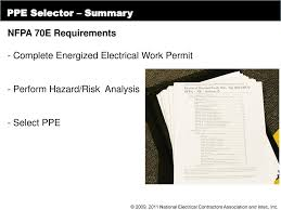 Energized Electrical Work Permit Flow Chart Personal Protective Equipment Ppe Selection For Electrical