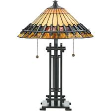 quoizel tf489t bronze patina chastain 2 light 23 tall table lamp with tiffany glass shade lightingdirect com