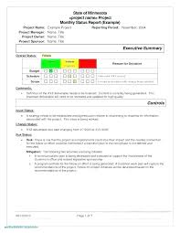 Sample Project Report Status Examples Format Writing For