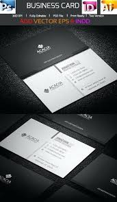 New Adobe Business Card Template Or Free Templates Illustrator Download