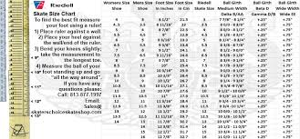 Sizing Chart How To Measure Your Feet To Determine Boot Size