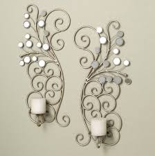 mirrored candle sconces in silver for home lighting ideas