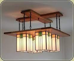 prairie chandelier craftsman light