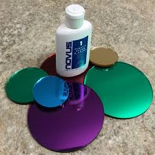 laser cut colored mirror acrylic discs