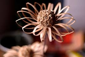 Recycled Flower Paper Diy Recycled Cardboard Tube Flower Paper Craft