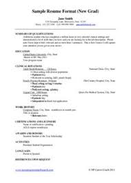 New Graduate Nurse Resume Resume Templates