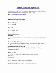 Dance Resume Format Painter Job Description For Resume Best Of Dance Resume Format Best 13