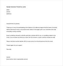 Professionla Volunteer Thankyou Letter Free Download In MS Word