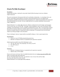 Sql Developer Resume Resume Templates