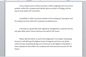 100 Resignation Letter Sample Templates And Formal Letter