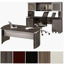 medina modern executive desk credenza 2 glass doors