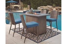 outdoor bar table and chairs. Partanna 5-Piece Outdoor Bar Table Set, , Large And Chairs T