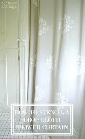 cloth shower curtain how to easily stencil a drop cloth shower curtain to give your home cloth shower curtain