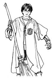 Harry Potter Simple Coloring Pages Images Coloring Harry Potter