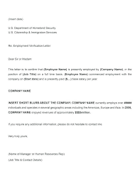 Printable Sample Letter Of Employment Verification Form Work