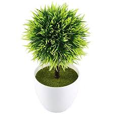 office pot plants. Beautiful Office GTidea 95u0027u0027 Artificial Fake Potted Plants Plastic Green Topiary Ball  Shrubs With White Planter Intended Office Pot
