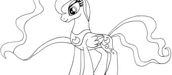 Princess Luna Coloring Pages The Weekly World