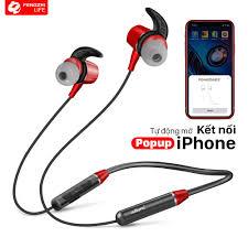 Tai nghe bluetooth FENGZHI BR101 đeo cổ thể thao popup cho iPhone Samsung  OPPO VIVO HUAWEI XIAOMI tai nghe không dây - Tai nghe Bluetooth nhét Tai