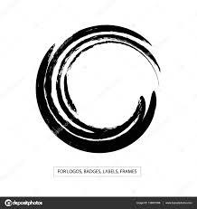label logo design element frame brush abstract